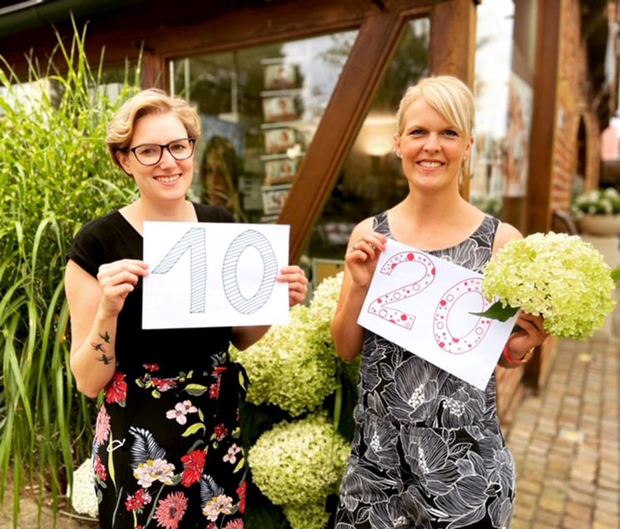 Noch mehr Jubiläen! Unsere lieben Kolleginnen Annika und Katharina.