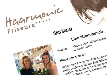 Steckbrief – Lina verlässt uns leider